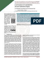 Design and Analysis of Crankshaft for Internal Combustion Engine