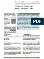 Estimation of Cooling Load Calculations for a Commercial Complex