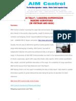 Marine Surveyor Supervisor Cargo Tally Clerk