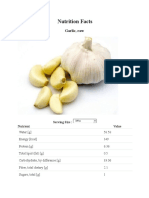 Garlic Nutrition Facts