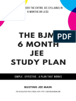 The BJM JEE Study Plan