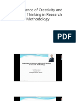 Importance of Creativity and Critical Thinking in Research Methodology