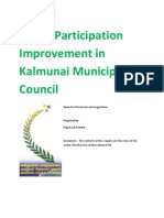 Public Participation Improvement in Kalmunai Municipal Council