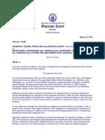 11. Ashmor m. Tesoro, Pedro Ang and Gregorio Sharp vs. Metro Manila Retreaders, Inc. (Bandag)