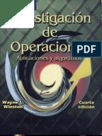 Investigacion de Operaciones Aplicaciones y Algoritmos Winston