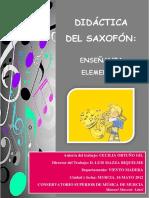 Didáctica del saxofón-Enseñanza elemental. Cecilia Ortuño Gil