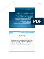 City of Los Angeles Peer Review Process