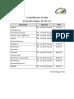 B.Tech - AY2019-20 Faculty Selection Schedule.docx.pdf