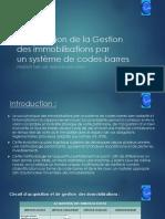 Optimisation de La Gestion Des Immobilisation Avec Systeme Code Bar