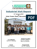 Industrial Visit Report to Solar Power Plant