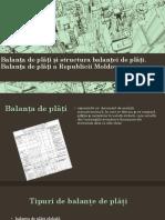 Balanța de plăți și structura.Balanța de plăți a Republcii Moldova