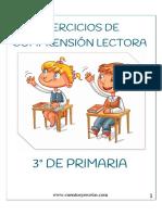 Textos de Comprensión Lectora 3 Primaria Para Imprimir