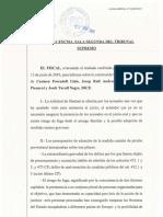 Resolució de la Fiscalia on s'oposa a la llibertat de Forcadell ,Sànchez, Rull i Turull