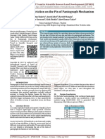 Study of Effect of Friction on the Pin of Pantograph Mechanism