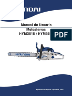 Manual motosierra hyundai HYM3818