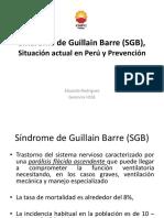 Síndrome de Guillain Barre (SGB), Situación en El Perú y Prevención (2019)