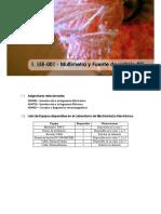 LEE-001 - Multímetro y Fuente de Voltaje DC