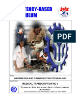 Medical Transcription NC II