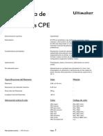 Ficha de datos técnicos CPE