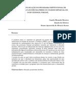Relato do projeto de ação do Programa Institucional de Bolsas de Iniciação à Docência. (ok).docx
