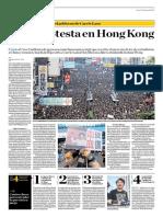 Mega Protesta en Hon Kong