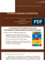 Materi Second Language Acquisition