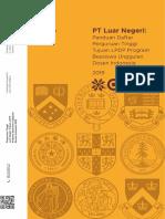 Daftar Perguruan Tinggi Tujuan Luar Negeri Beasiswa Unggulan Dosen Indonesia BUDI 2019 10 Mei 2019