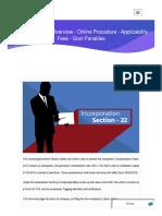 Form INC – 22A - Overview - Online Procedure - Applicability - Fees - Govt Penalties