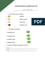 Evaluacion de Matematicas Segundo Basico