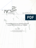 Pathologie Des Fondations Et Des Ouvrages en Terre
