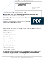 CBSE Class 3 English Practice Worksheets (12)-Kinds of Nouns