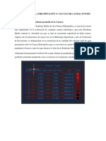 Distribución de La Precipitación y Cálculo de Caudal Futuro