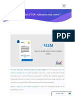 How to check FSSAI license number online?