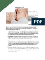 Lactancia Materna Exclusiva