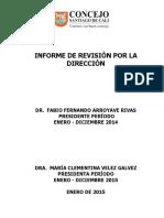 012015_Informe Rev. Por La Dirección 2014