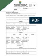 Evaluación i Parcial 9no Basica