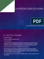 La Persona Como Ser Moral