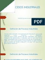 Procesos Industriales y Clasificacion