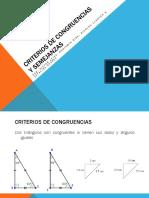 Criterios de Congruencias y Semejanzas