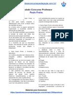 Simulado Concurso Professor - Paulo Freire