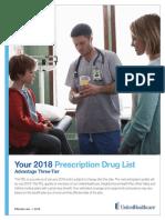 2018 Prescription drug list