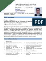 CV Jorge E. Vélez Hoyos (Abril - 2019)