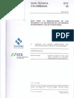 Gtc 45 - Actualizada identificación de riesgos  y peligros
