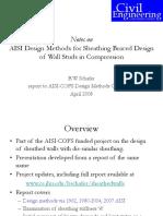 AISI Design Methods for Sheathing Braced Design Shortened