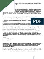 Resolución 3314 de La Asamblea General de Las Naciones Unidas Sobre Definición de La Agresión