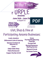 2019 Ansonia Goes Purple