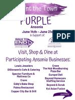 2019 Ansonia Goes Purple