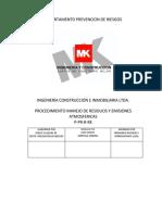 P-pr-20 Manejo Emisionoes y Residuos