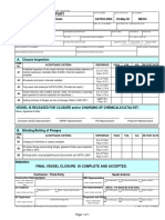 SATR-D-2003 Vessel Closure Inspection Certificate