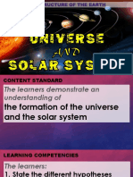 1. the Formation of the Universe and the Solar System